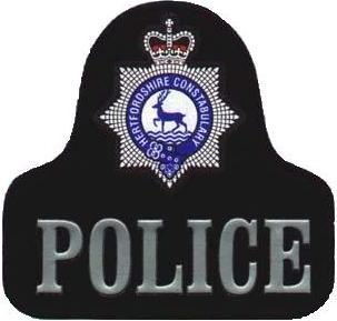 Hertfordshire Police rubber patch