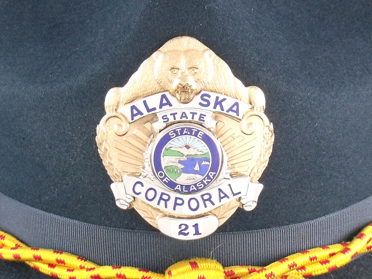 Alaska State Troopers hat badge