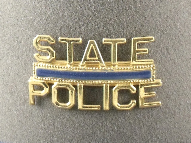 Connecticut State Police patrol hat badge