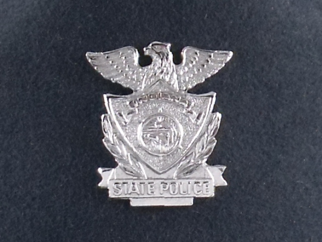 Indiana State Police troopers hat badge