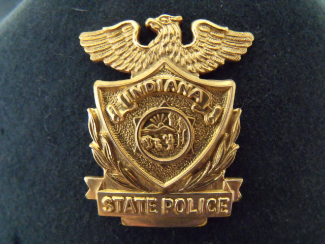 Indiana State Police supervisors hat badge