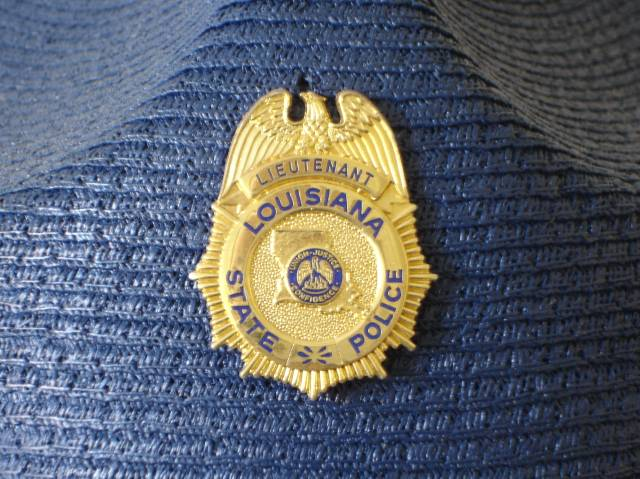 Louisiana State Police hat badge