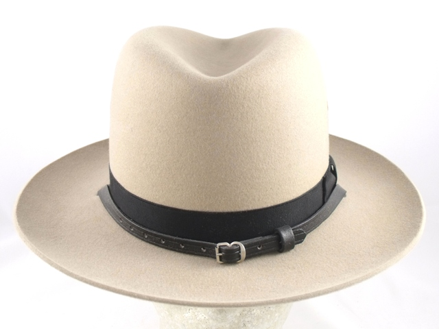 Maryland State Police tan sheriff felt summer hat with leather straps