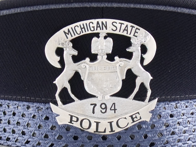 Michigan State Police hat badge