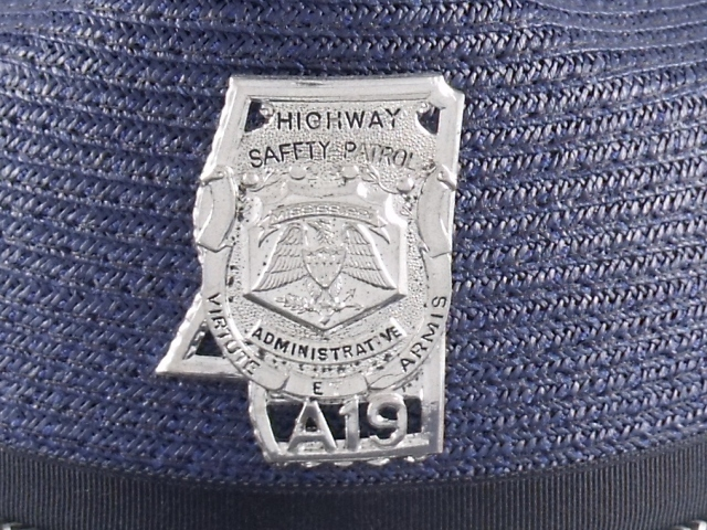 Mississippi Highway Patrol trooper hat badge