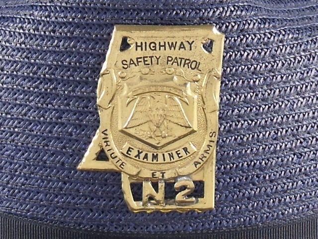 Mississippi Highway Patrol supervisor hat badge