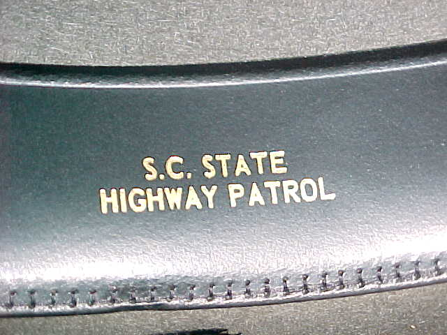 South Carolina Highway Patrol inside hat embossed