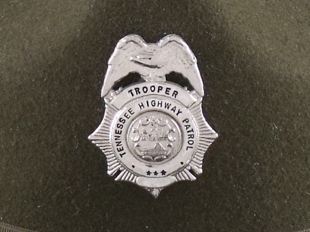 Tennessee Highway Patrol trooper hat badge