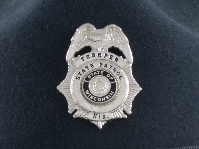 Wisconsin State Patrol hat badge